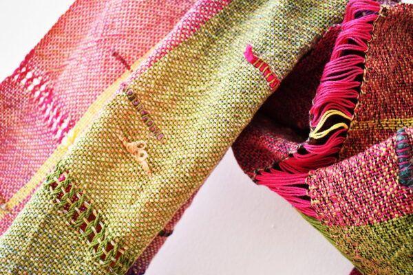 Handwoven summer shawl