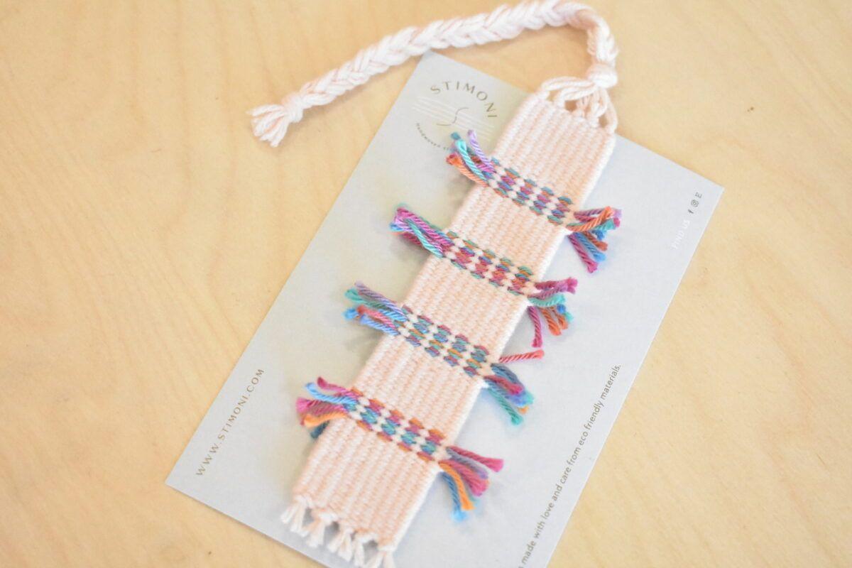 Handwoven bookmark