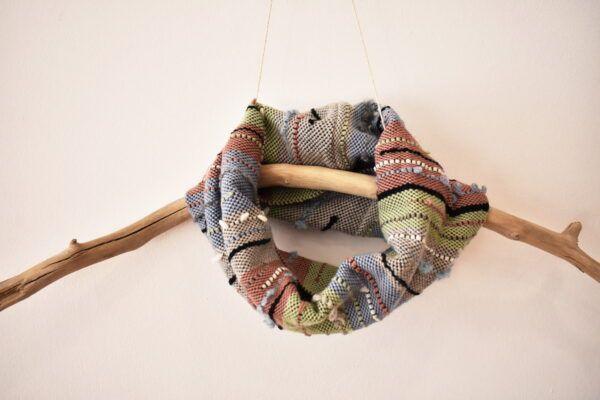 Handwoven tube scarf