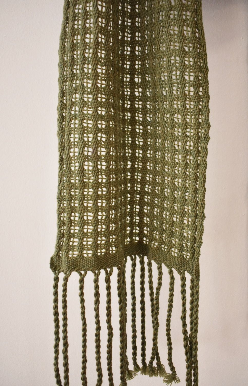 Woven merino scarf