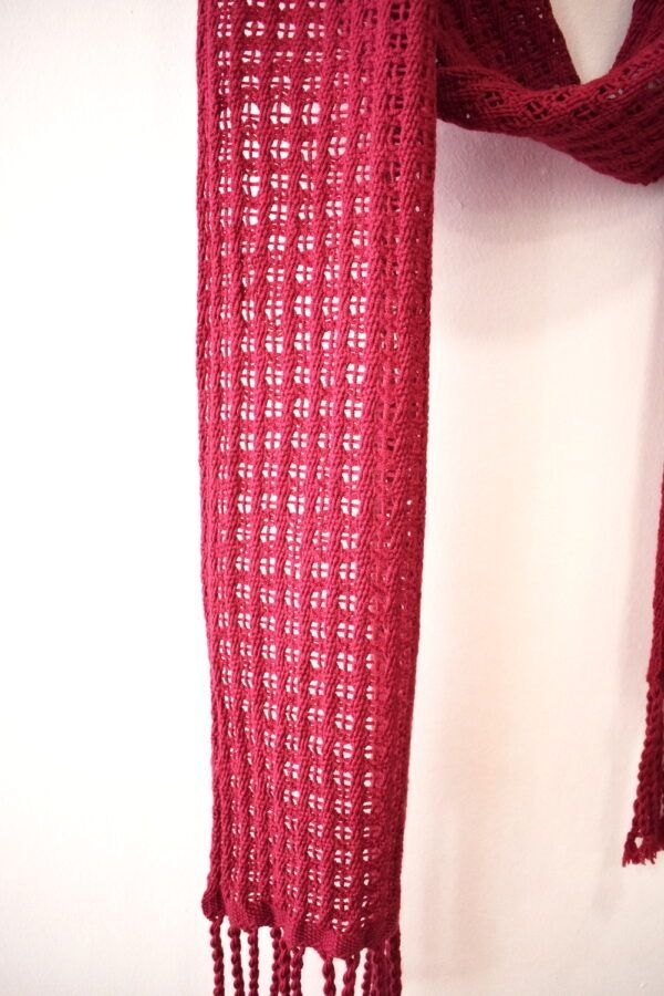 Handwoven merino scarf