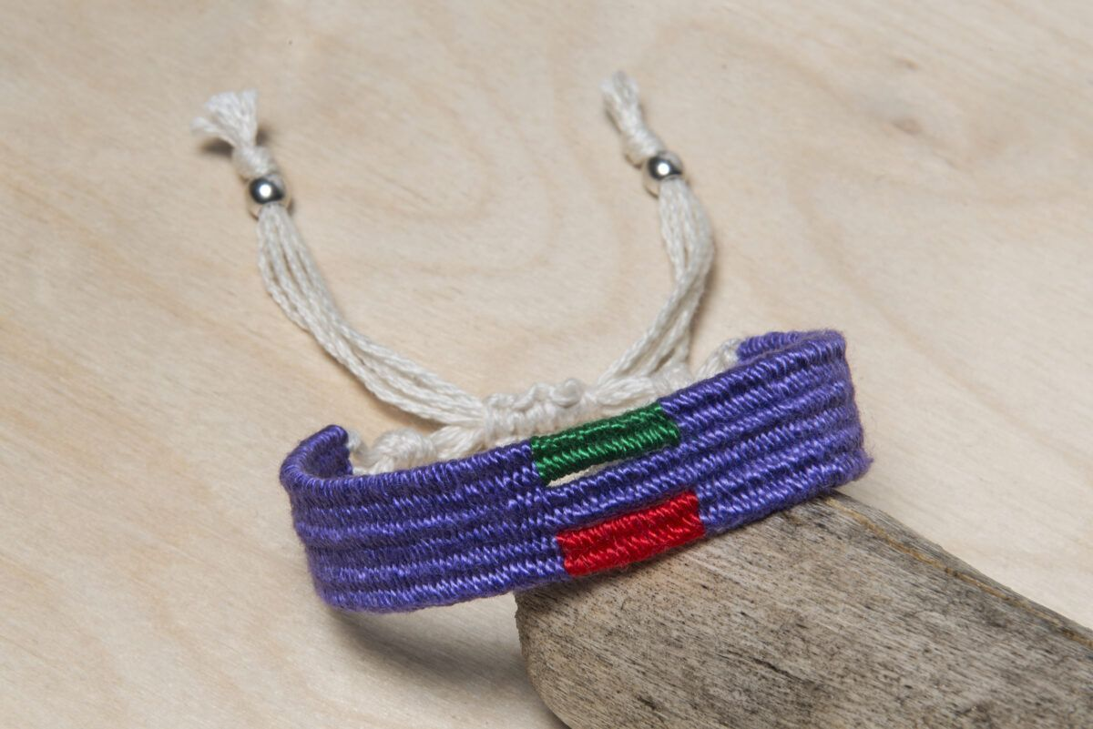 handwoven cotton bracelet